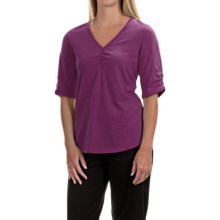 Neon Buddha Clementine Shirt - V-Neck, Elbow Sleeve (For Women) in Raven Wine - Closeouts