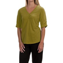 Neon Buddha Clementine Shirt - V-Neck, Elbow Sleeve (For Women) in Rich Moss - Closeouts