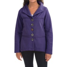 Neon Buddha Coffee Run Blazer - French Terry (For Women) in Royal Jewel - Closeouts
