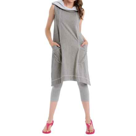 Neon Buddha Corrina Hoodie Dress - Stretch Cotton, Sleeveless (For Women) in Barry White - Closeouts