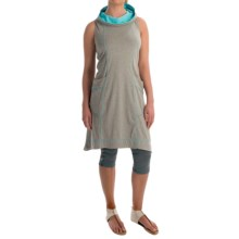 Neon Buddha Corrina Hoodie Dress - Stretch Cotton, Sleeveless (For Women) in Valley Turquoise - Closeouts