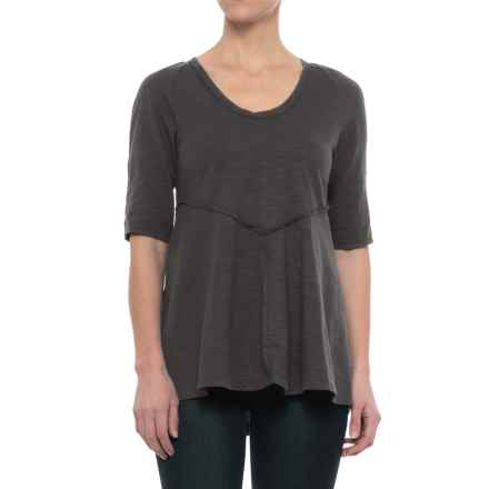 Neon Buddha Corrina T-Shirt - Elbow Sleeve (For Women) in Sustainable Charcoal - Closeouts