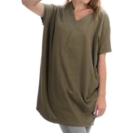 Neon Buddha Cosmic Tunic Shirt - Stretch Cotton, Sleeveless (For Women) in Hudson Moss - Closeouts