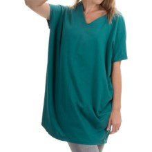 Neon Buddha Cosmic Tunic Shirt - Stretch Cotton, Sleeveless (For Women) in Luxury Jade - Closeouts