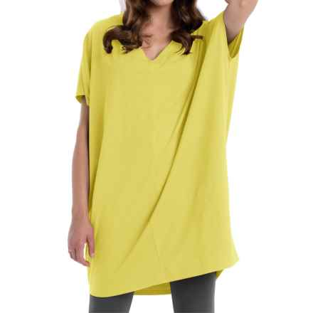 Neon Buddha Cosmic Tunic Shirt - Stretch Cotton, Sleeveless (For Women) in Seaside Yellow - Closeouts