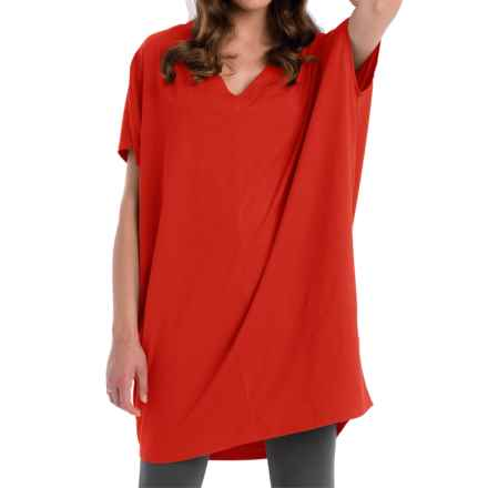 Neon Buddha Cosmic Tunic Shirt - Stretch Cotton, Sleeveless (For Women) in Vibrant Red - Closeouts