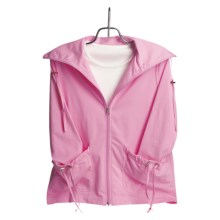 Neon Buddha Cotton Swing Jacket - Inverted Back Pleat (For Women) in Suit Pink - Closeouts