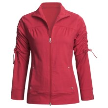Neon Buddha Cotton Zip Jacket - Sleeve Ties (For Women) in Red - Closeouts
