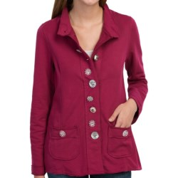 Neon Buddha Crossroads Blazer - French Terry (For Women) in Lodge Red
