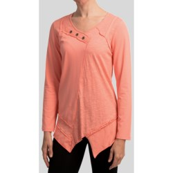 Neon Buddha Dalton Stretch Jersey Pullover - Long Sleeve (For Women) in Lively Peach