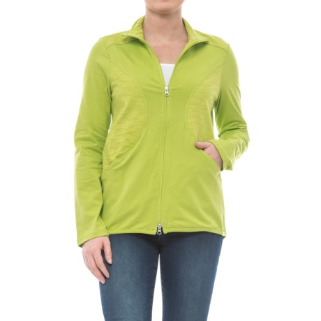 Neon Buddha Daydream Jersey Jacket (For Women) in Lightening Lime