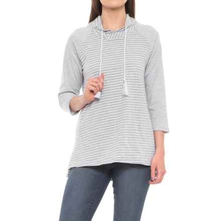 Neon Buddha Daytona Mock Collar Shirt - 3/4 Sleeve (For Women) in Sporty Grey - Closeouts