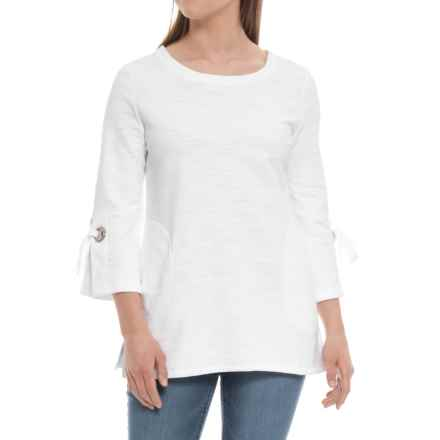 Neon Buddha Discover Tunic Shirt - 3/4 Sleeve (For Women) in White - Closeouts
