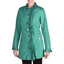 Neon Buddha Downtown Ruffled Car Jacket (For Women) in 185 Spearmint - Closeouts