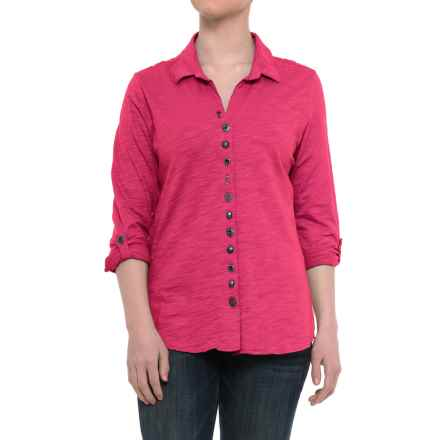 Neon Buddha Eastwood Shirt - Roll-Up Long Sleeve (For Women) in Deluxe Pink - Closeouts