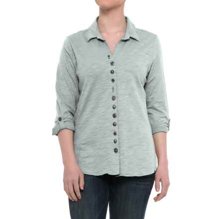 Neon Buddha Eastwood Shirt - Roll-Up Long Sleeve (For Women) in Empire Ice - Closeouts