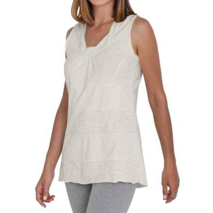 Neon Buddha Eight Days a Week Tank Top - Stretch Cotton (For Women) in Off White - Closeouts