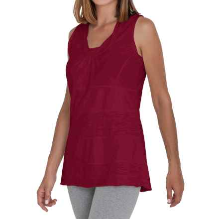 Neon Buddha Eight Days a Week Tank Top - Stretch Cotton (For Women) in Wine - Closeouts