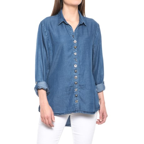 Neon Buddha Endless Shirt - TENCEL®, Long Sleeve (For Women) in Indigo