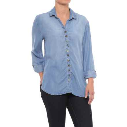 Neon Buddha Endless Shirt - TENCEL®, Long Sleeve (For Women) in Sky Blue - Closeouts