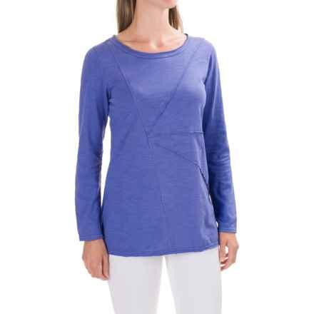 Neon Buddha Festive T-Shirt - Long Sleeve (For Women) in Abbotsford Royal Blue - Closeouts