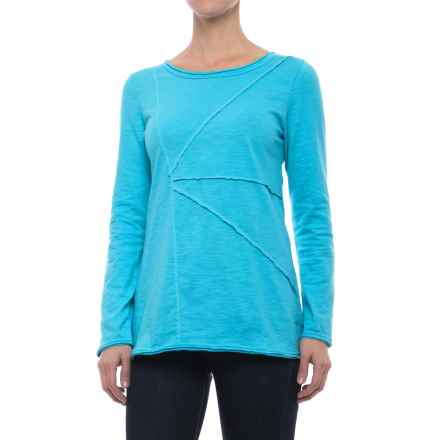 Neon Buddha Festive T-Shirt - Long Sleeve (For Women) in Sky Turquoise - Closeouts