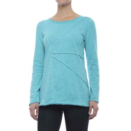 Neon Buddha Festive T-Shirt - Long Sleeve (For Women) in Turquoise - Closeouts