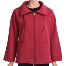 Neon Buddha Fleece Swing Jacket (For Women) in Red - Closeouts
