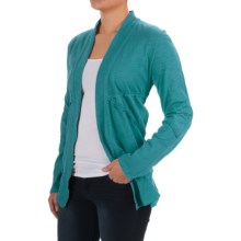 Neon Buddha Forever Young Cardigan Sweater (For Women) in Luxury Jade - Closeouts