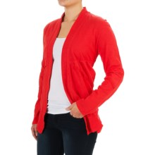 Neon Buddha Forever Young Cardigan Sweater (For Women) in Vibrant Red - Closeouts