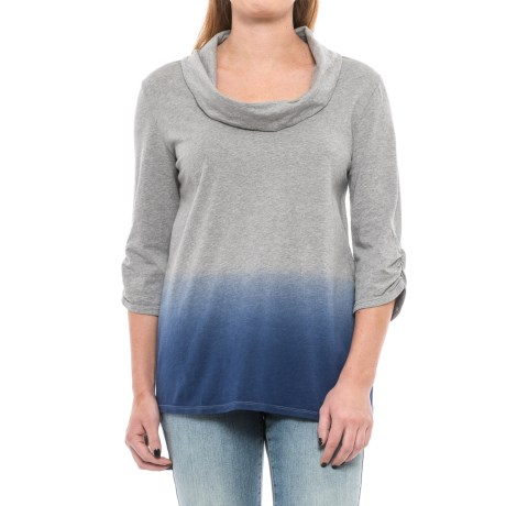 Neon Buddha Frederique Shirt - Cowl Neck, 3/4 Sleeve (For Women) in Cobalt