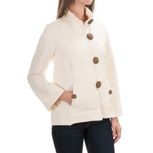 Neon Buddha Function Swing Jacket - French Terry (For Women) in Cream - Closeouts