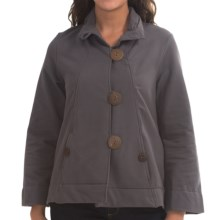 Neon Buddha Function Swing Jacket - French Terry (For Women) in Dalhose Charcoal - Closeouts