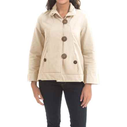 Neon Buddha Function Swing Jacket - French Terry (For Women) in Lovely Cream - Closeouts