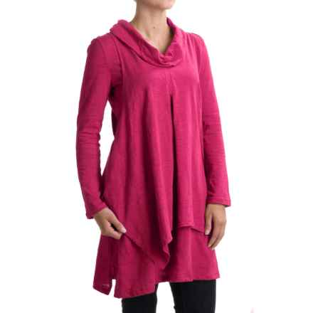 Neon Buddha Function Tunic Shirt - Cowl Neck, Long Sleeve (For Women) in Berry - Closeouts