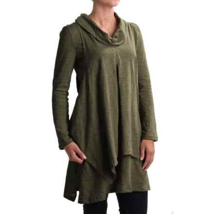 Neon Buddha Function Tunic Shirt - Cowl Neck, Long Sleeve (For Women) in Moss - Closeouts