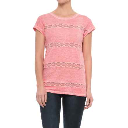Neon Buddha Grace Shirt - Short Sleeve (For Women) in Coral - Closeouts