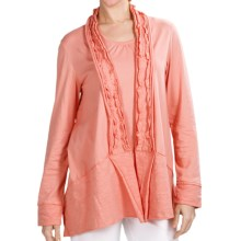 Neon Buddha Halton Swing Jacket - Stretch Cotton Jersey (For Women) in Lively Peach - Closeouts