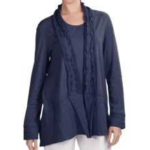 Neon Buddha Halton Swing Jacket - Stretch Cotton Jersey (For Women) in Navy - Closeouts