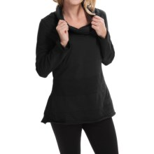 Neon Buddha Halton Tunic Shirt - Cowl Neck, Long Sleeve (For Women) in Market Black - Closeouts
