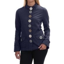 Neon Buddha India Blazer - Stretch Cotton, Button Front (For Women) in Bootleg Navy - Closeouts
