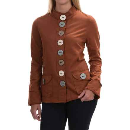 Neon Buddha India Blazer - Stretch Cotton, Button Front (For Women) in Inza Rust - Closeouts