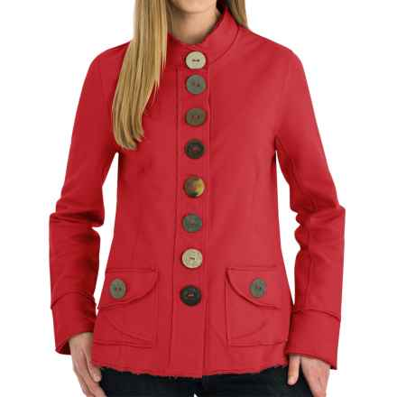 Neon Buddha India Blazer - Stretch Cotton, Button Front (For Women) in Red - Closeouts