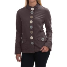 Neon Buddha India Blazer - Stretch Cotton, Button Front (For Women) in Sustainable Charcoal - Closeouts