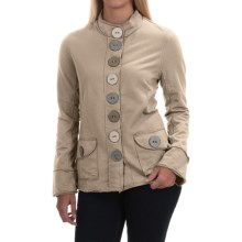 Neon Buddha India Blazer - Stretch Cotton, Button Front (For Women) in Sweetheart Sand - Closeouts