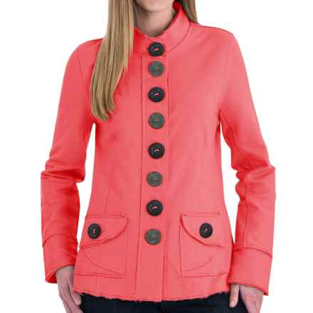 Neon Buddha India Blazer - Stretch Cotton, Button Front (For Women) in Winter Coral - Closeouts