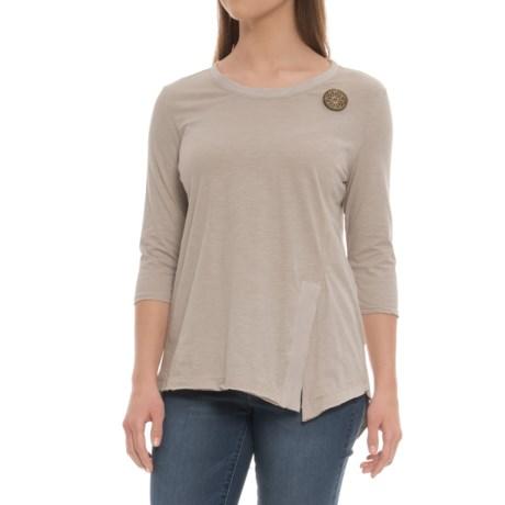 Neon Buddha Inkberry Shirt - 3/4 Sleeve (For Women) in Linen