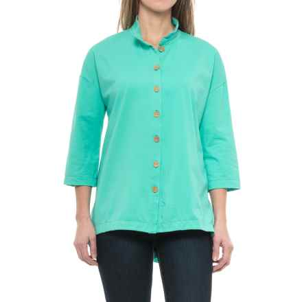 Neon Buddha Inspiration Shirt - 3/4 Sleeve (For Women) in Clean Turquoise - Closeouts