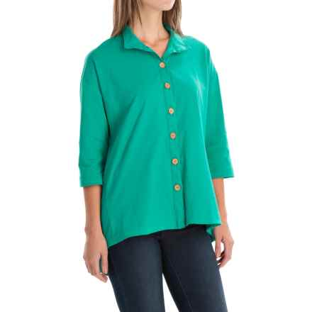Neon Buddha Inspiration Shirt - 3/4 Sleeve (For Women) in Emerald Sea - Closeouts