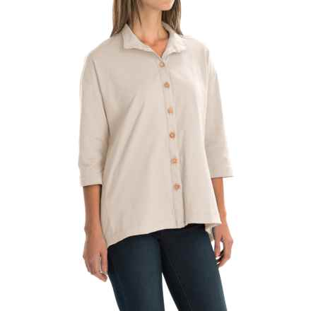 Neon Buddha Inspiration Shirt - 3/4 Sleeve (For Women) in Lovely Cream - Closeouts